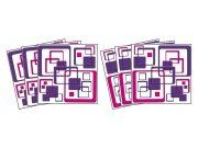 Samolepicí dekorace na kachličky Squares TI-020, 15x15 cm Samolepky na kachličky