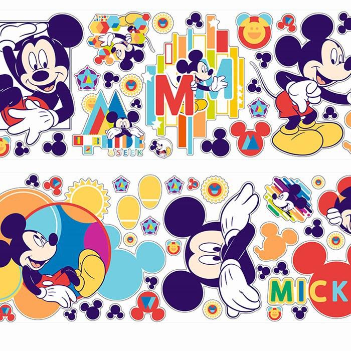 Samolepicí dekorace Mickey Mouse D40206, 70x50 cm - Dětské samolepky na zeď