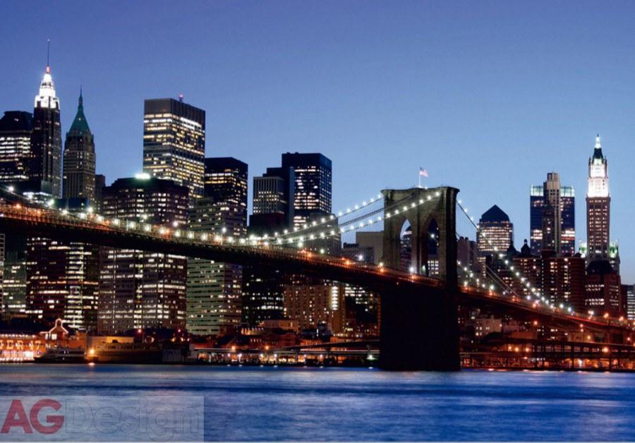 Papírová fototapeta Brooklyn bridge AG design FTS-0107, rozměry 360 x 254 cm