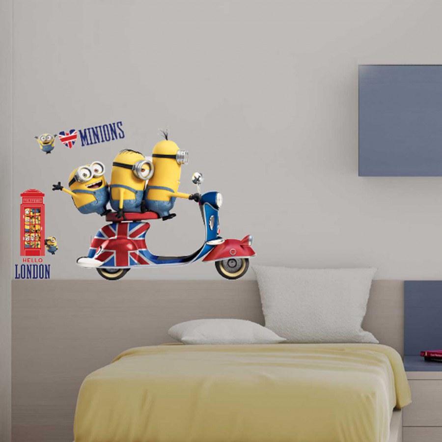 Samolepicí dekorace Mimoni IMAG02, 50x70 cm - Dětské samolepky na zeď