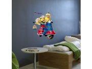 Samolepicí dekorace Mimoni IMAG03, 50x70 cm Dětské samolepky na zeď