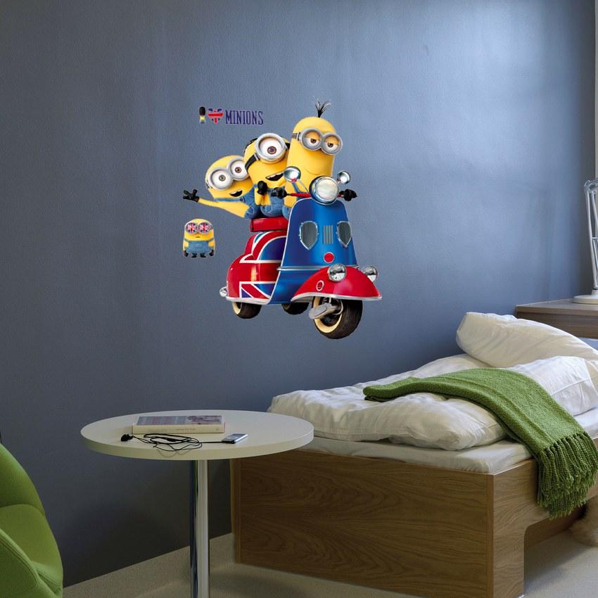 Samolepicí dekorace Mimoni IMAG03, 50x70 cm - Dětské samolepky na zeď