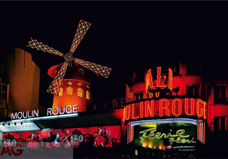 Vliesová fototapeta AG Design Moulin Rouge FTNXXL-0444, rozměry 330 x 255 cm