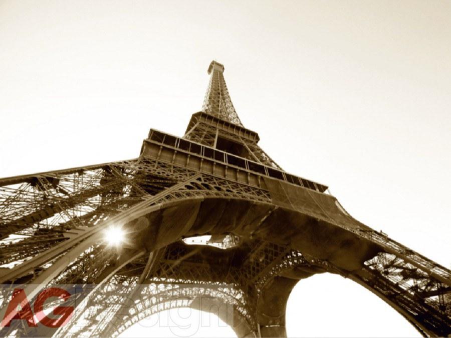 Papírová fototapeta Eiffelova věž AG design FTS-0172, rozměry 360 x 254 cm