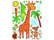 Samolepicí dekorace Žirafa K-1043, 85x65 cm Dětské samolepky na zeď
