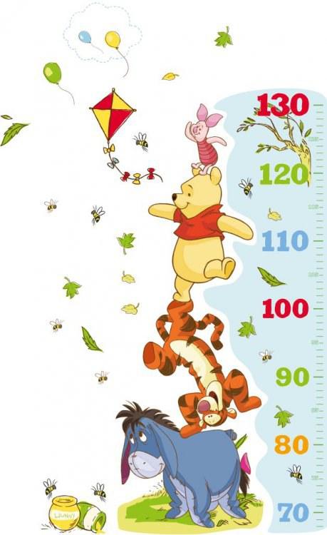 Somolepicí dekorace Medvídek Pú metr D49213, 50 x 100 cm - Dětské samolepky na zeď