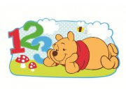 Dekorace Medvídek Pú D23523, 53x28 cm Dětské dekorace na zeď